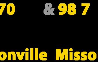 KWRT 1370 AM and 98.7 FM Boonville Missouri Radio Station Logo 720